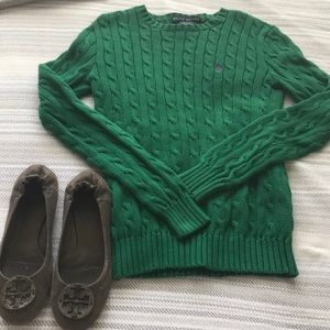 Green Ralph Lauren woven sweater